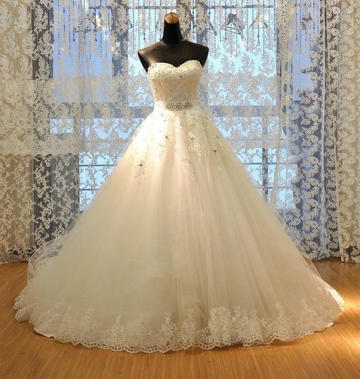 Vestido De Noiva Princess Tube Top Beading Bride Vestido De Festa Longo Wedding Dress 2019 Plus Size Wedding Dresses Custom-made