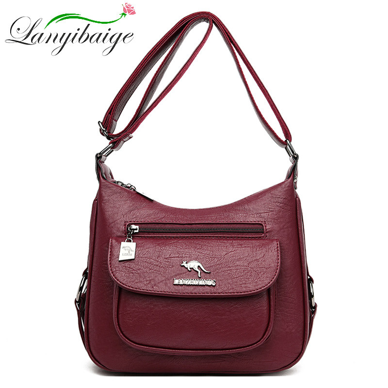 LANYIBAIGE Luxury Handbags Women Bags Designer Soft Leather Bags For Women Crossbody Messenger Bag Ladies Vintage Shoulder Bag