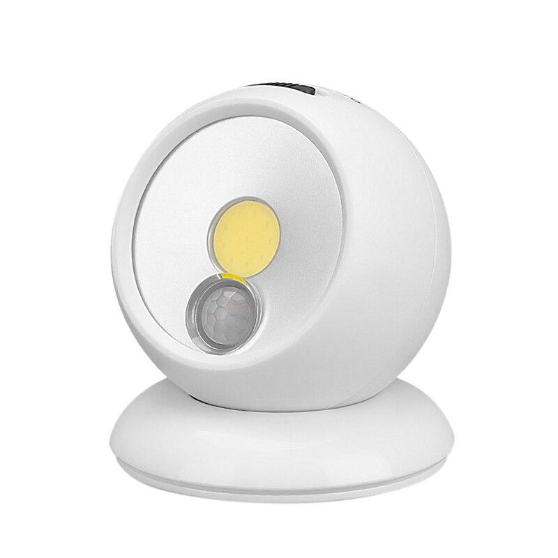 PIR Motion Sensor LED Night Light Bright Infrared Detection 360 Degree Rotation Wall Lamp Street Lamp For Garden Hallway