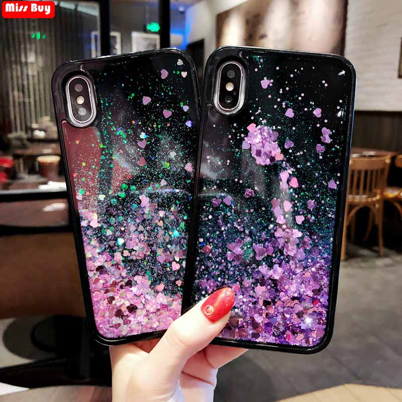 Missbuy Glitter Liquid Sand Quicksand Star Case For Samsung galaxy A3 A5 A7 2017 A8 Plus A7 A9 J8 2018 Cover Protective Fundas image