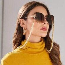 Fashion simple multi-layer pearl glasses chain sunglasses accessories Luxury Bra