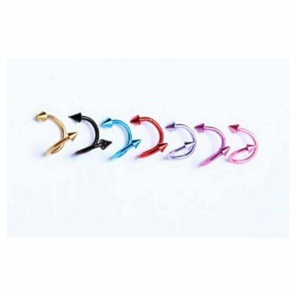 1 piezas pendiente Tragus anillos de acero inoxidable oído, nariz anillo joyería Piercing del cuerpo Dilataciones Falsas