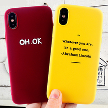 Fashion Phone Cases for IPhone 11 8 7 6s Plus Pro X XS MAX XR Case Positive Letter Soft Silicone Fitted Covers Accessories