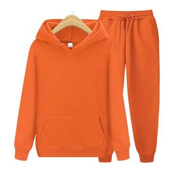 Men's Sets Hoodies+Pants Autumn Winter Hooded Sweatshirt Sweatpants Fashion Slim Fit Men Set Hoodie Pant Hip Hop Pullover Hoody 1
