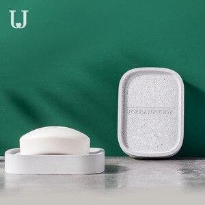 Image 3 - Youpin Jordan&Judy Diatom Mud Soap Tray Bathroom Quick drying Absorbent Pad Diatom Pad Moistureproof Soap Box