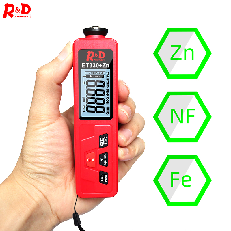 R amp D ET330 ZN Red Car Paint Thickness Gauge Meter Digital Films for Car Paint Tester with Backlight Thickness Coating Meter NEW