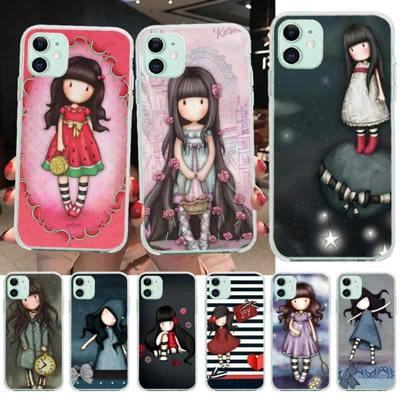 PENGHUWAN Cartoon Lovely Santoro Gorjuss Phone Case Cover for iPhone 11 pro XS MAX 8 7 6 6S Plus X 5S SE XR cover