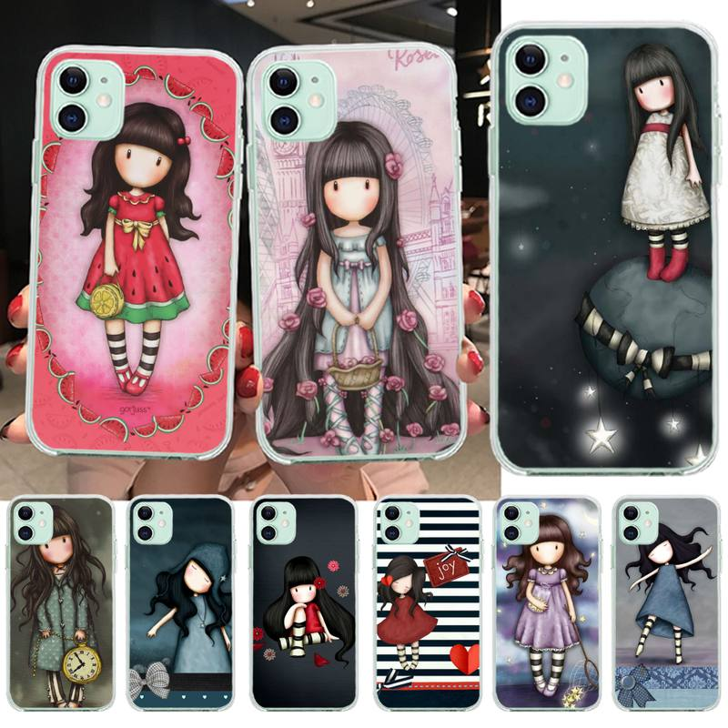 PENGHUWAN Cartoon Lovely Santoro Gorjuss Phone Case Cover for iPhone 11 pro XS MAX 8 7 6 6S Plus X 5S SE XR cover(China)