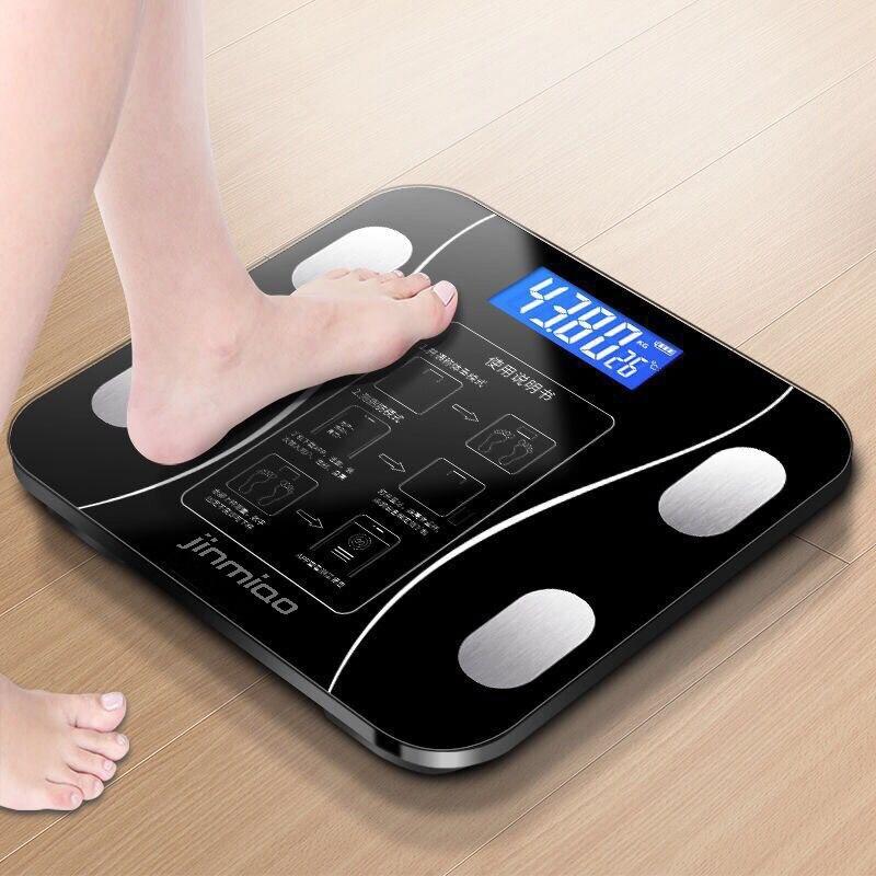 Escala de Gordura Corporal do Banheiro Escalas de Peso Índice do Corpo Humano Digital Chão Display Eletrônico Inteligente Pesando Escalas Android ou Ios Lcd