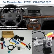 Камера заднего вида для Mercedes Benz E W211 E280 E300 E320-Автомобильная камера заднего вида, комплекты RCA и экран