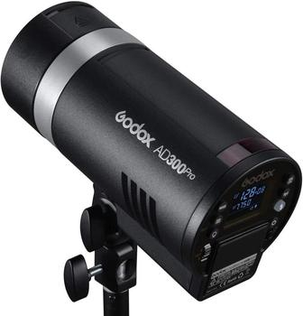 Godox AD300Pro ad300pro 300W Outdoor Flash 2.4G Round Head TTL Flashlight with 12W Modeling Light Lithium Battery for Canon Sony