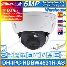 Dahua IPC HDBW4631R AS 6MP IP Camera POE Audio& Alarm In/out SD Card Slot Upgrade 30M IR from IPC HDBW4431R AS IK10 IP67