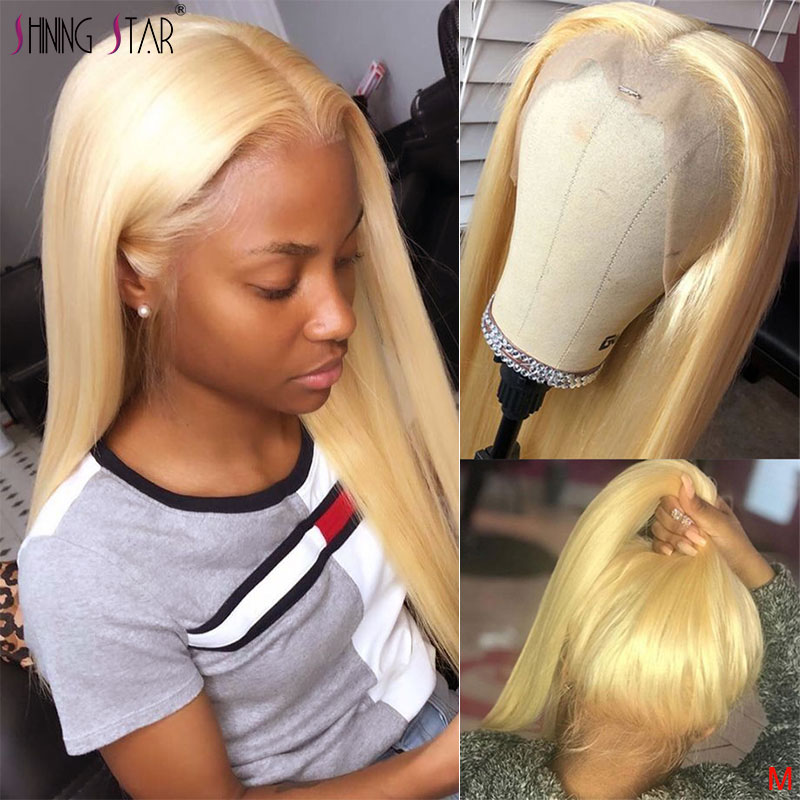 613 Full Lace Wig Human Hair Brazilian Straight Hair Honey Blonde Full Lace Wig Pre Plucked With Baby Hair 150 Shining Star Remy image