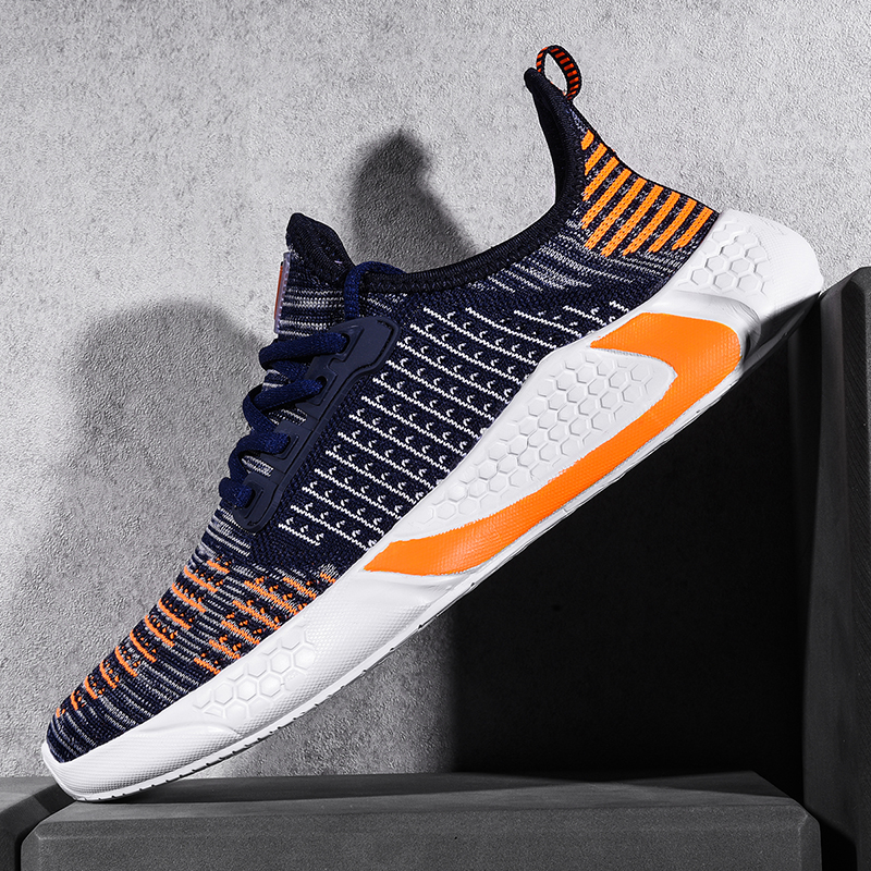 Style Shoes Men High Quality Sneakers Male Flyknit Breathable Casual Male Footwear Light Big Size 38-46 Tenis Masculino Adulto