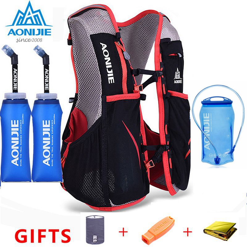 AONIJIE 5L Marathon Hydration Vest Pack For 1.5L Water Bag Women Men Cycling Hiking Bag Outdoor Sport Running Backpack E906