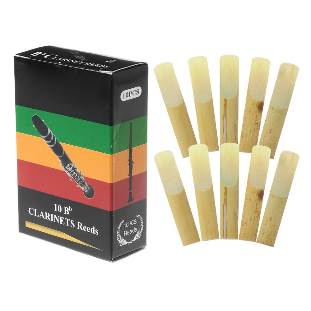 10pcs/set Bb Clarinet Reeds Traditional Bamboo Reed Strength 2.0 / 2.5 / 3.0
