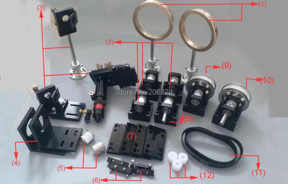 CO2 лазерные металлические части передачи лазерная головка механические компоненты для DIY CO2 лазерная гравировка машина для резки