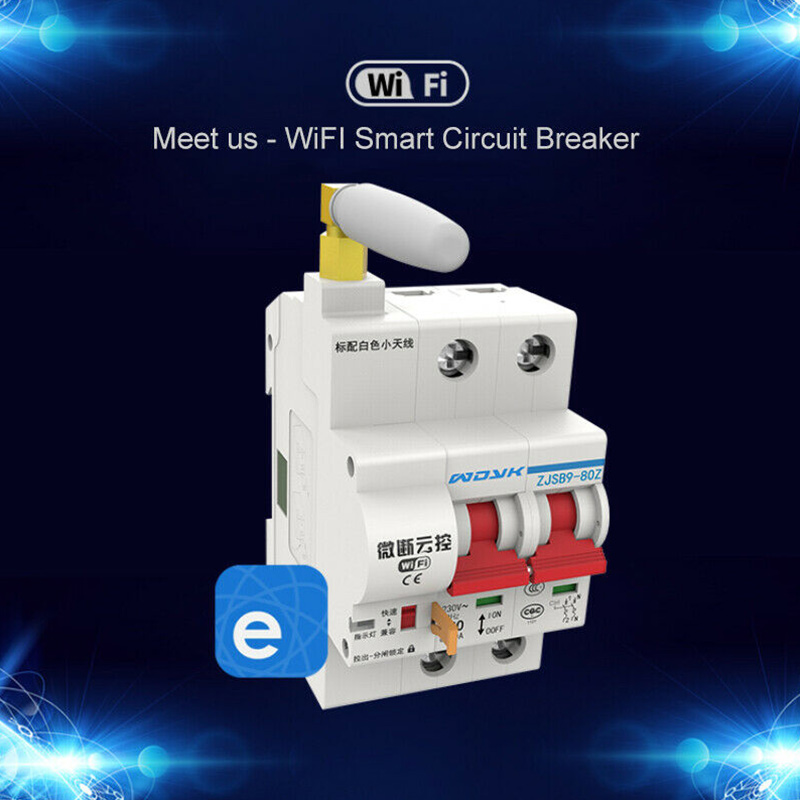 Protection automatique à télécommande CLH @ 8 de Circuit de surcharge de commutateur d'app de disjoncteur intelligent de WiFi