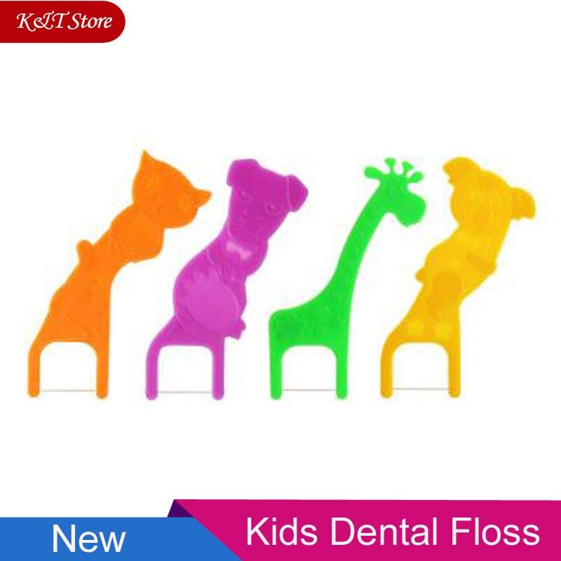 Children Carton Dental Floss Ultrathin Floss Kids Tooth Pick Oral Hygiene Cleaner Teeth Stick Dental Flosser With Box Wholesale