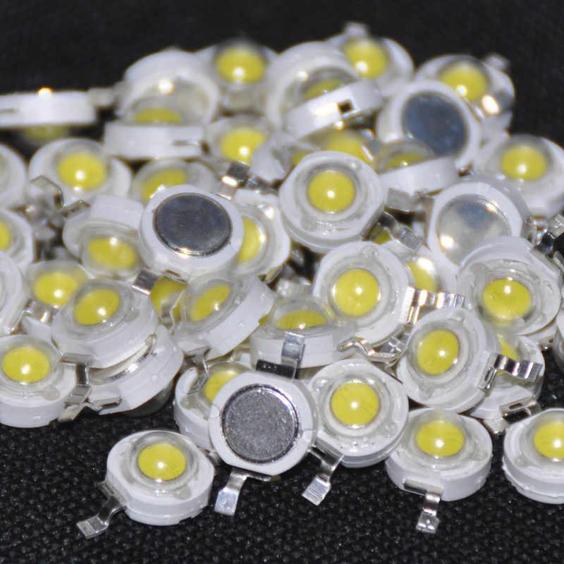 50pcs 1W LED Diode 1 Watt High Power Chips LED Diod White Light-Emitting-Diodes 1-Watt White 110-120 lm LED Beads LED 1-W White