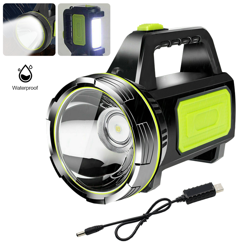 1000M Portable Searchlight Xenon LED USB Rechargeable Camping Adventure Hiking Hunting Hand Flashlight Security Torch Work Light
