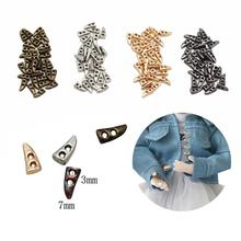 Accessori Dress Shoes Horn Super Bag Buttons Sewing DIY Metal C7U1 Small Mini 20pcs/package