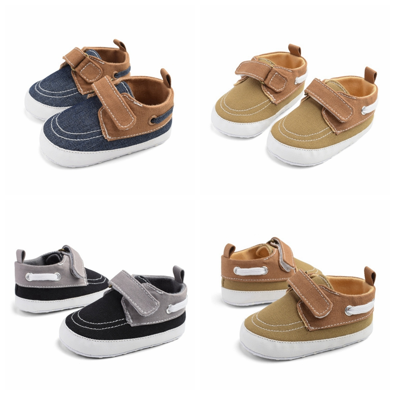 Boys Baby Sneakers Baby Shoes Breathable Canvas Shoes 0-18M Boys Shoes 3 Color Kids Toddler Shoes