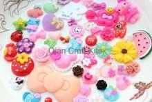 250 шт смешанные кабошоны милые декоративные комплекты разные