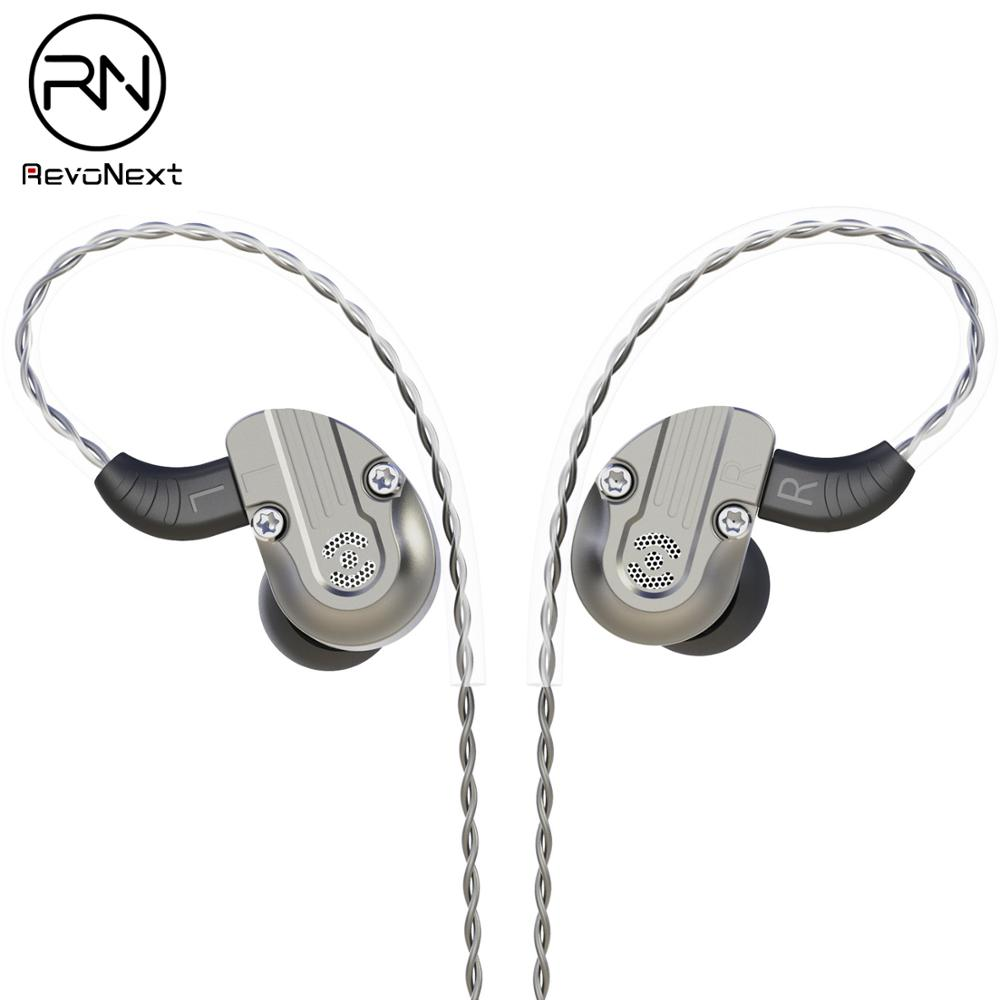 RevoNext NEX202 in Ear Monitor Dual Driver Earphone 1DD+1BA Aluminum Alloy Shell HiFi Earbuds Headset Upgraded Detachable Cables|Phone Earphones & Headphones| |  - title=