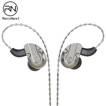 RevoNext NEX202 in Ear Monitor Dual Driver Earphone 1DD+1BA Aluminum Alloy Shell HiFi Earbuds Headset Upgraded Detachable Cables