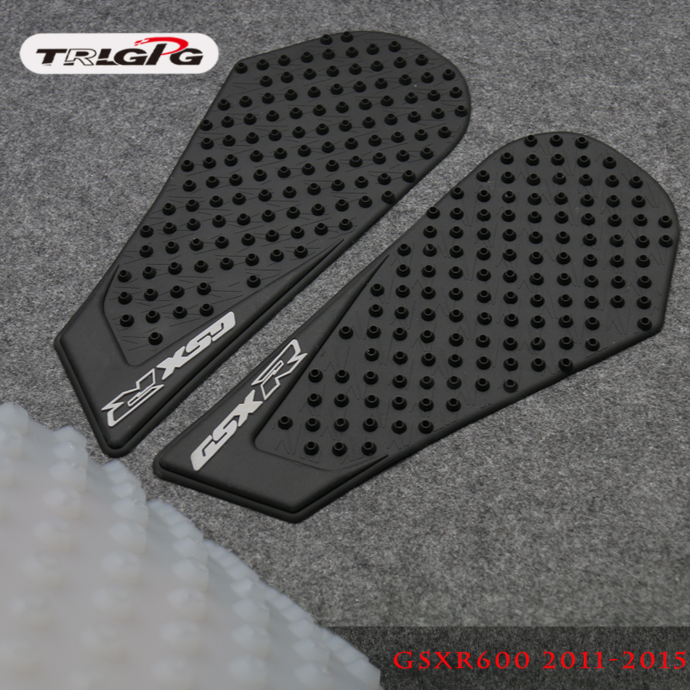 For <font><b>Suzuki</b></font> GSXR600 GSXR750 <font><b>GSXR</b></font> <font><b>600</b></font> 750 2011 2012 2013 2014 Tank Pad Protector <font><b>Sticker</b></font> Decal Gas Knee Grip Traction Pad Side image
