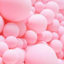 5/10/18/36 polegada macaron pastel rosa balões redondos matte ar ballons chuveiro do bebê festa de aniversário do casamento decoração
