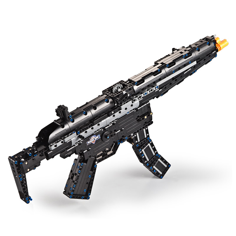Cool modern military M4A1 carbine Rubberband gun building block model bricks assemblage toys collection for boys gifts in Stacking Blocks from Toys Hobbies