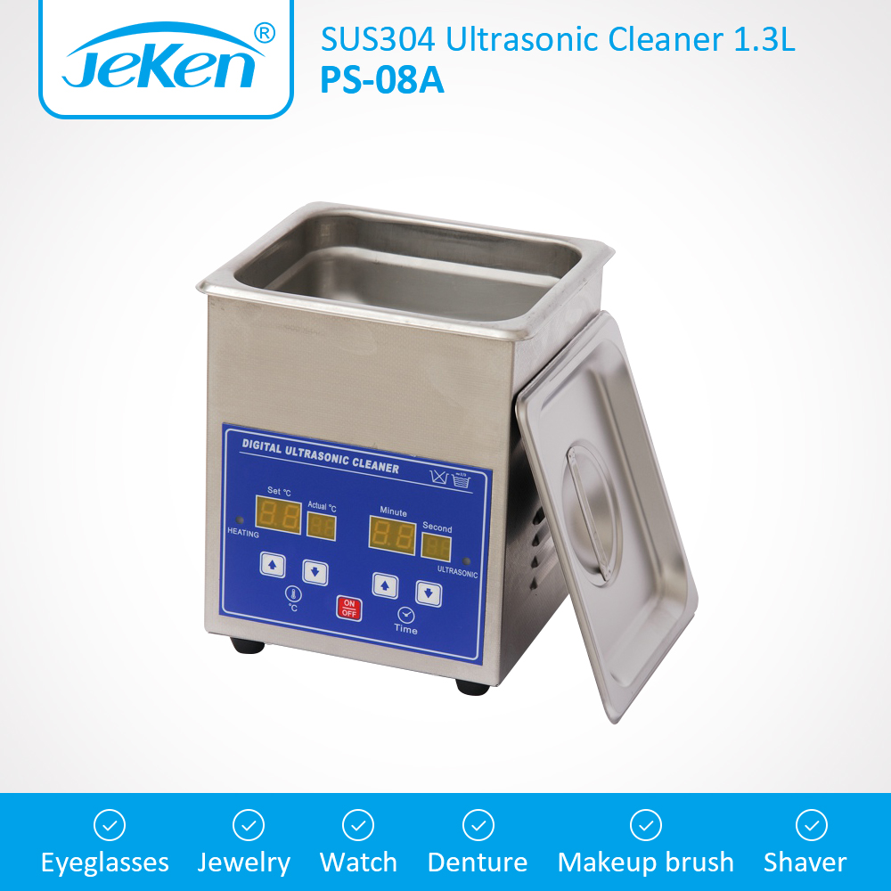 1.3L Digital Ultrasonic Cleaner 70W 42KHz Household Ultrasound Bath For Lab Dental Clinic Hospital Instrument Industry SUS304