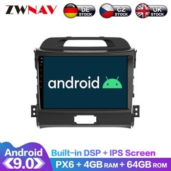 Android 9.0 4+64G PX6 DSP Carplay Radio Car DVD Player GPS navigation For KIA Sportage 3 4 2010-2016 Head Unit Multimedia