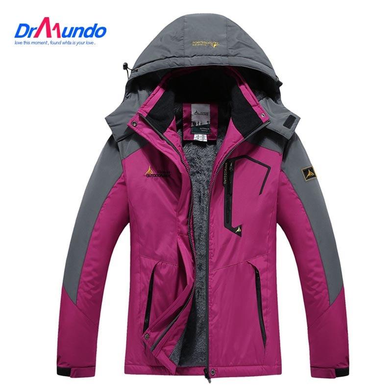 Ski Jacket Women Waterproof  Fleece Snow Jacket Thermal Coat For Outdoor Mountain Skiing Snowboard Jacket Plus Size Brand