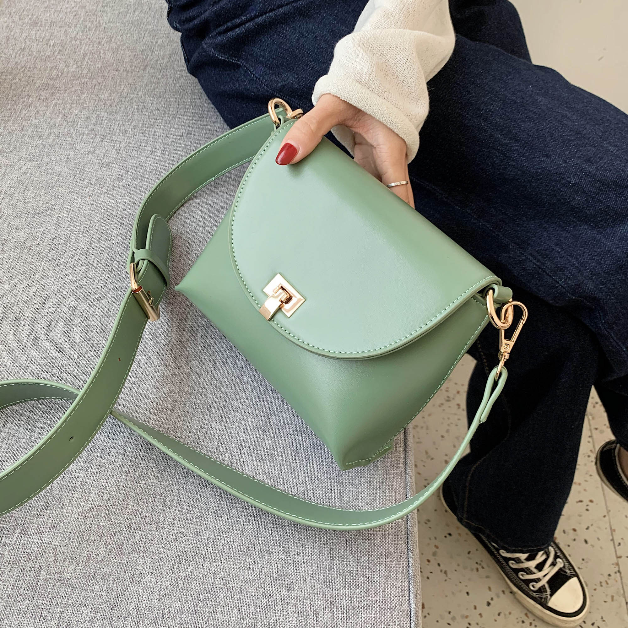 Simple Style Pu Leather Crossbody Bags For Women 2020 Small Lady Shoulder Messenger Bag Female Phone Handbags And Purses