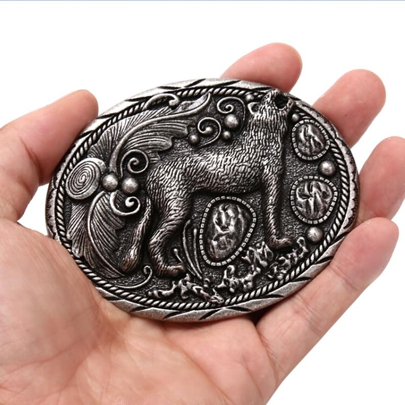 Волк металлический классный ремень пряжки для мужчин унисекс Западная Мода Пряжка ковбойские девушки браслет из Паракорда