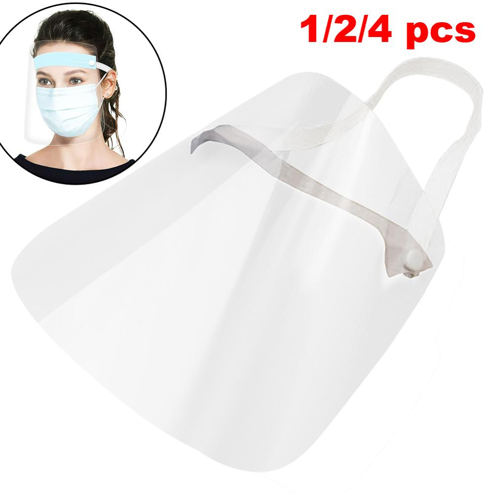 4/10PCS Clear Face Cover with Double-Sided Film and Adjustable Headband to Protect Full Face
