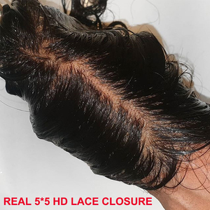 Invisible HD Lace Frontal Closures 5x5 Lace Closure With Baby Hair Straight Remy Human Hair Melt Skins Hd Lace Transparent