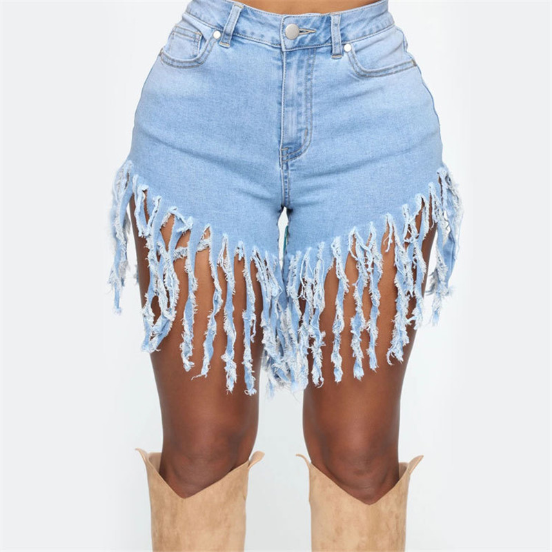 New arrival trendy woman tassel denim shorts fashion sexy jeans shorts Skinny summer shorts S-3XL drop shipping 5