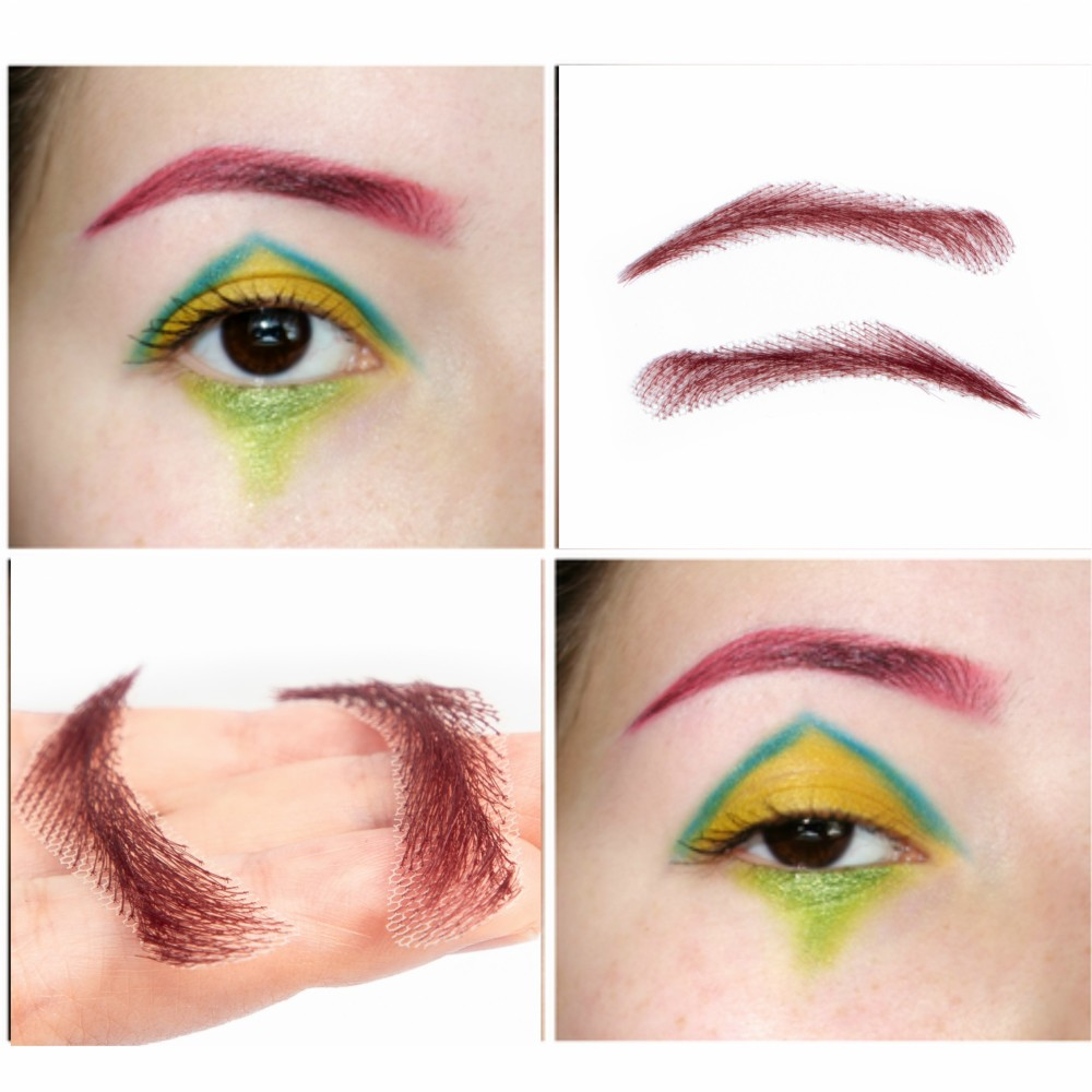 FXVIC 2018 Rushed Sobrancelha Eyebrows Factory  /lace Eyebrow  Real Easy To Wear Wig Brow ,human hair eye brow wig Free shipping