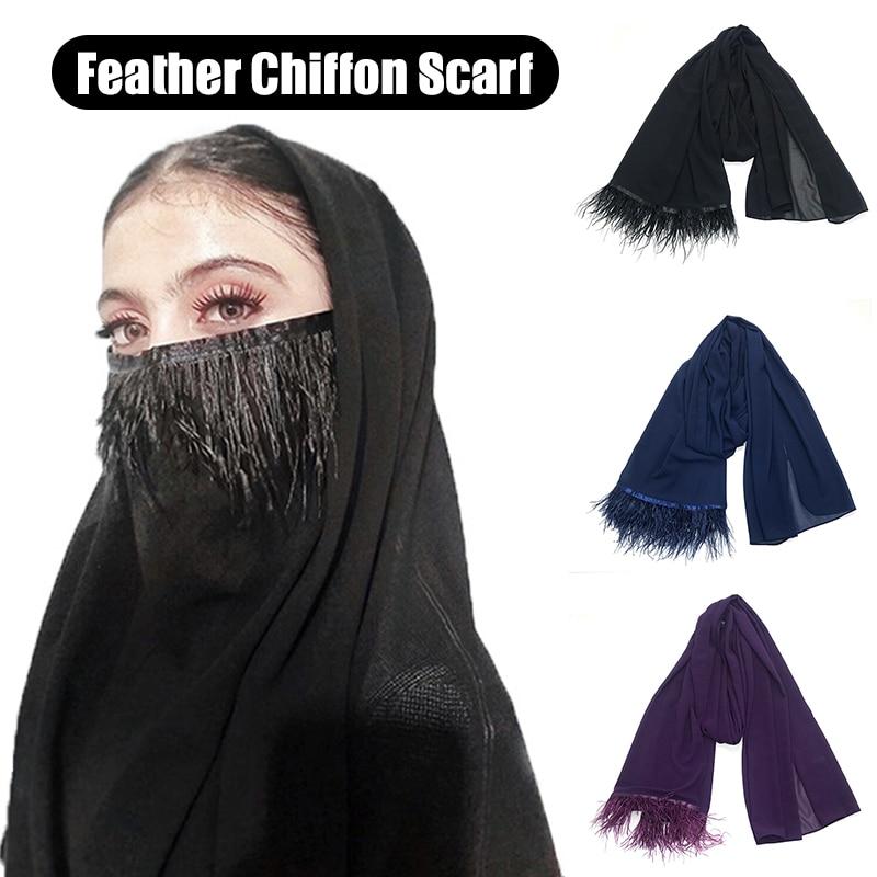 Fashion Summer Women Scarf Thin Shawls And Wraps Lady Solid Female Hijab Stoles Long Pashmina Foulard Head Scarves XRQ88