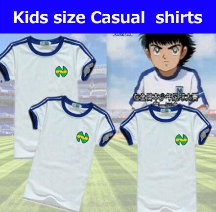 Kid Youth Size Camiseta Shirts Oliver Atom Equipe De Japan , Captain Tsubasa Jerseys,ATOM Football Cotton White Men's Clothes