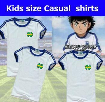 Koszulki młodzieżowe dla dzieci rozmiar koszulki z futbolu oliver atom Captain Tsubasa koszulki ATOM piłka nożna bawełna odzież męska tanie i dobre opinie YSMILE Y COTTON SILK Koszule Krótki V-neck NONE REGULAR #752 soccer Suknem Na co dzień Stałe