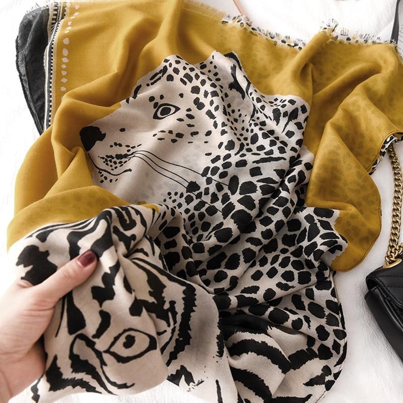 2019 Fashion Women Leopard Print Winter Scarf Cotton Scarf Shawl Warm Large Shawls And Wraps Foulard Femme Cachecol Female Stole
