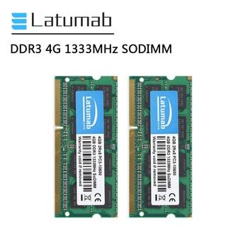 Latumab RAM DDR3 4GB 8GB 16GB 1333MHz Laptop Memory PC3-10600 SODIMM Memory 204Pin 1.5V Notebook Memory Memoria DDR3 RAM Module ddr3l 8gb memory ram 1600mhz 1 35v sodimm ram 204pin laptop ram for amd ddr3 motherboard
