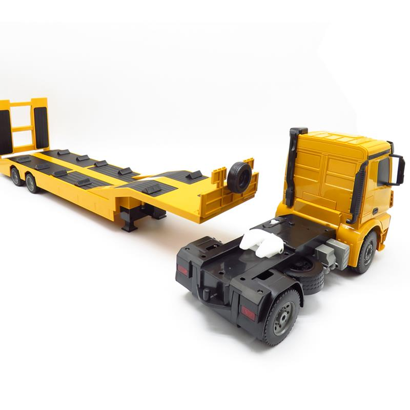 1:20 Scale 2.4 GHz Lorry Vehicle Engine Sound Truck Color : 1battery pack Moerc RC Flat Bed Truck Remote Control With Dump Truck Complete Kit Includes Remote Control Trailer Gift for Boys