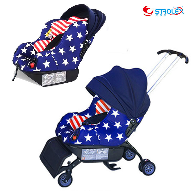 5 In 1 Stroller child car safety seat baby booster 0-4 years old sleepable Trolley