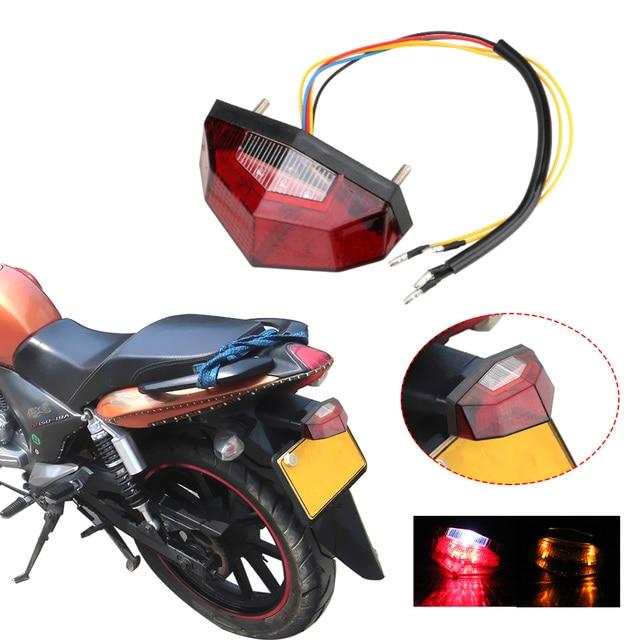 مصباح خلفي للدراجات النارية ، 11 مصباح LED ، ضوء توقف ، مؤشر إشارة الانعطاف ، ملحقات دراجة نارية